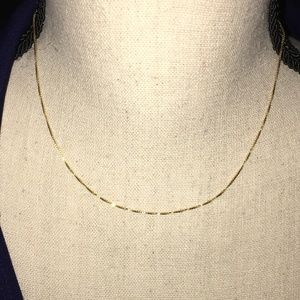 "14k Yellow Gold Box 16"" Chain//Necklace"